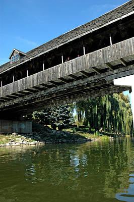 Art Print featuring the photograph Bavarian Covered Bridge by LeeAnn McLaneGoetz McLaneGoetzStudioLLCcom