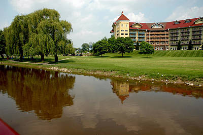 Landscapes Royalty-Free and Rights-Managed Images - Bavarian Inn Lodge Reflection by LeeAnn McLaneGoetz McLaneGoetzStudioLLCcom