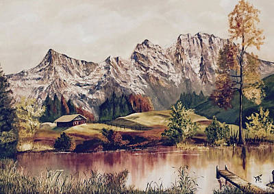 Painting - Bavarian Landscape by Donald Paczynski