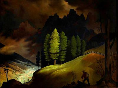 Bavarian Landscape Art Print