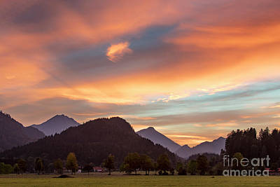 Photograph - Bavarian Sunset by Brian Jannsen