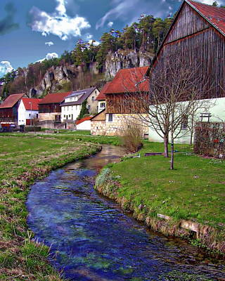 Photograph - Bavarian Village View by Anthony Dezenzio