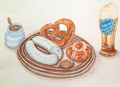 Bavarian White Sausage Art Print
