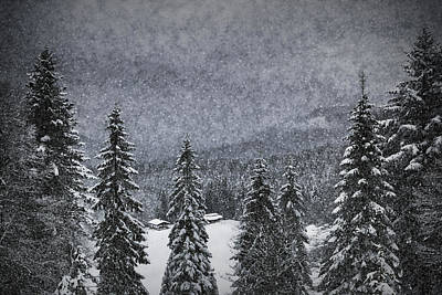 Mystical Landscape Digital Art - Bavarian Winter's Tale I by Melanie Viola