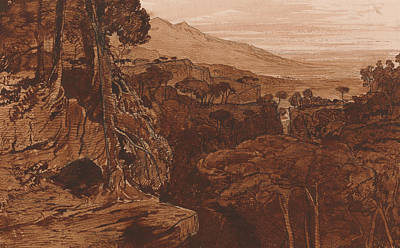 Italian Landscapes Drawing - Bavella, Corsica by Edward Lear