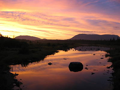 Photograph - Baxter State Park At Sunset by Nina Kindred