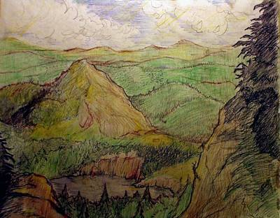 Maine Mountains Drawing - Baxter State Park by Lori Sullivan
