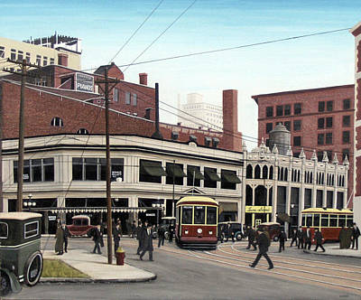 Painting - Bay And Queen Streets C1940 by Kenneth M Kirsch
