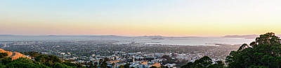 Photograph - Bay Area Sunset Panorama 1 by Jason Chu
