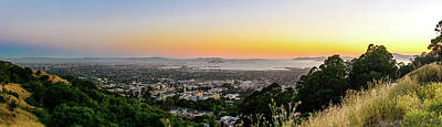 Photograph - Bay Area Sunset Panorama 2 by Jason Chu