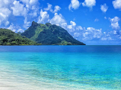 Rurutu Painting - Bay At Huahine Island Tahiti by Dominic Piperata