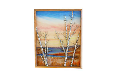 Mixed Media - Bay Birch by Daniel Dubinsky