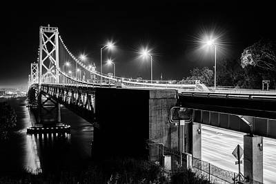Photograph - Bay Bridge And San Francisco By Night 19 by Jason Chu