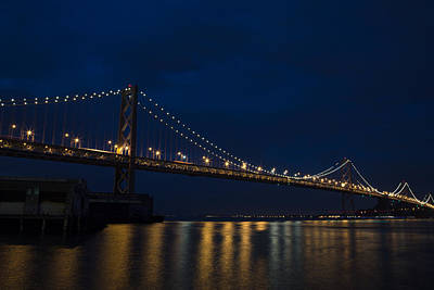 Bay Bridge At Night Art Print