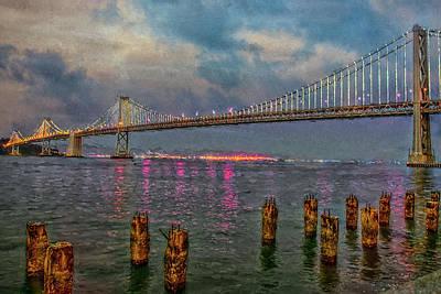 Photograph - Bay Bridge At Nightfall by Patricia Dennis