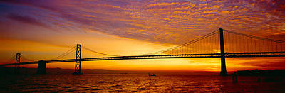 Civil Building Photograph - Bay Bridge At Sunrise, San Francisco by Panoramic Images