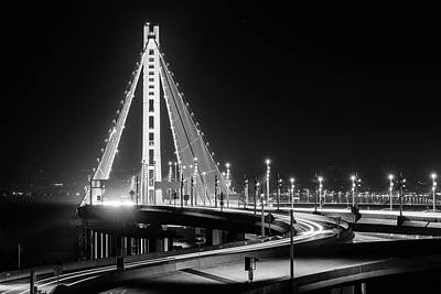 Photograph - Bay Bridge East By Night 8 by Jason Chu