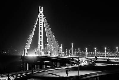 Photograph - Bay Bridge East By Night 8 by Jason Chu