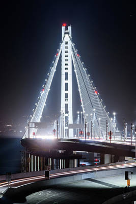 Photograph - Bay Bridge East By Night 9 by Jason Chu