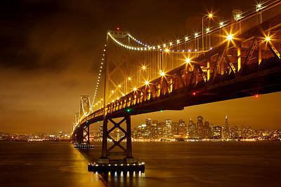 Print featuring the photograph Bay Bridge by Evgeny Vasenev
