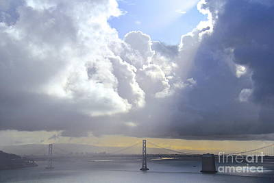 Photograph - Bay Bridge Glow by Suzanne Oesterling