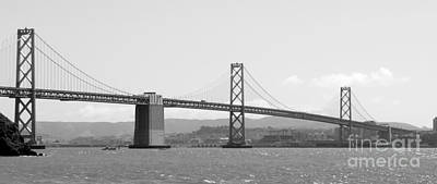 Photograph - Bay Bridge In Black And White by Carol Groenen