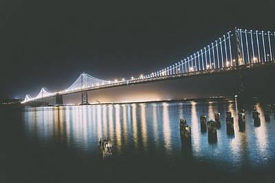 Down Town Los Angeles Photograph - Bay Bridge by Kekoa James