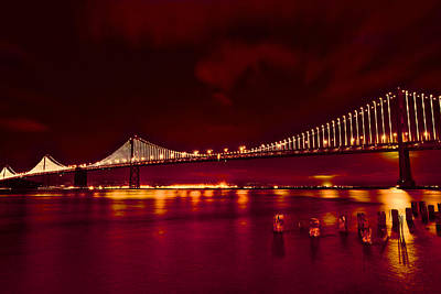 Photograph - Bay Bridge Lights by Kim Wilson