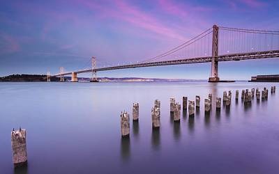 Landmark Digital Art - Bay Bridge by Maye Loeser