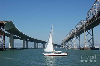Photograph - Bay Bridge Reconstruction by Mia Alexander