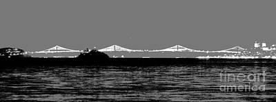 Mixed Media - Bay Bridge San Francisco by Kip Vidrine