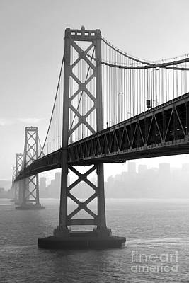 Photograph - Bay Bridge San Francisco San Francisco - Black And White by Peter Dang