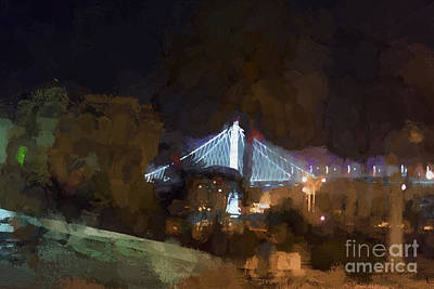 Bay Bridge Sf Abstract - Painterly Art Print by David Gordon