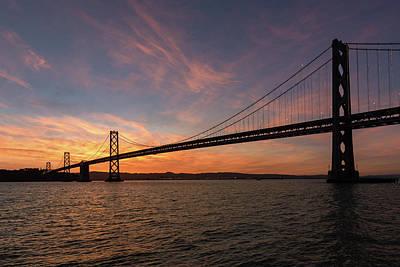 Photograph - Bay Bridge Sunrise 1 by Laura Macky