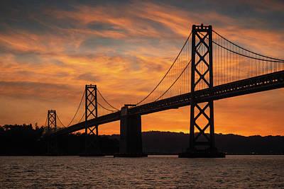 Photograph - Bay Bridge Sunrise 2 by Laura Macky