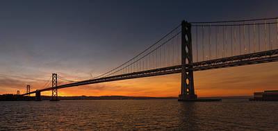 Photograph - Bay Bridge Sunrise 3 by Laura Macky