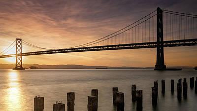 Photograph - Bay Bridge Sunrise 5 by Laura Macky
