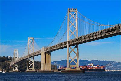 Photograph - Bay Bridge With Apl Houston by Bonnie Follett