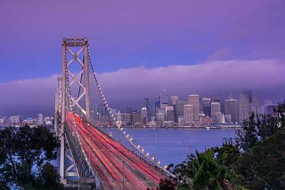 Lady Bug - Bay Bridge with Skyline by Javier Flores