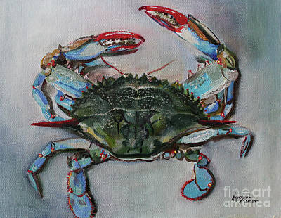 Painting - Bay Crab by Kristine Kainer