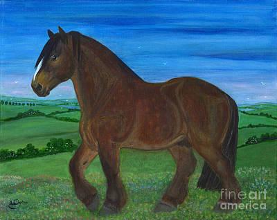 Bay Horse Art Print by Anna Folkartanna Maciejewska-Dyba