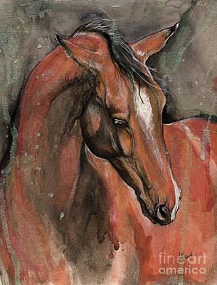 Bay Horse Portrait 2016 09 24 Original by Angel Tarantella