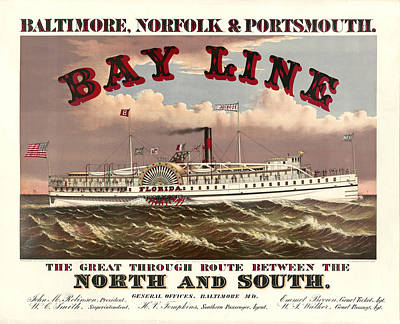 Retro Painting - Bay Line by Gary Grayson