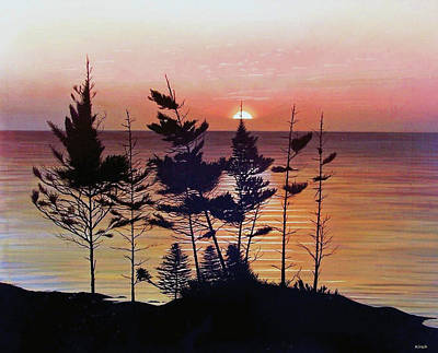 Painting - Bay Of Fundy Sunset by Kenneth M  Kirsch