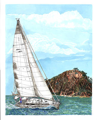 Painting - Bay Of Islands Sailing by Jack Pumphrey