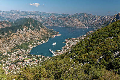 Photograph - Bay Of Kotor Overview by Sally Weigand