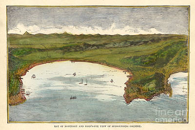 Photograph - Bay Of Monterey And Birds's Eye View Of Surrounding County Circa 1890 by California Views Archives Mr Pat Hathaway Archives