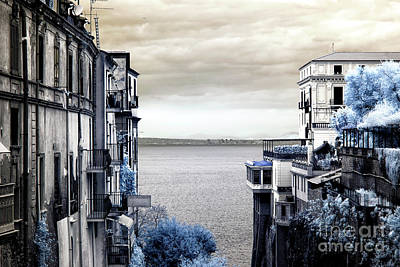 Bay Of Naples View Infrared Art Print by John Rizzuto