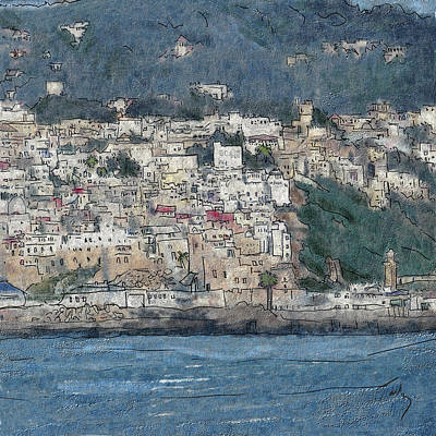 Painting - Bay Of Tangier by Thomas Tribby