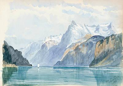Drawing - Bay Of Uri, Brunnen by John Singer Sargent